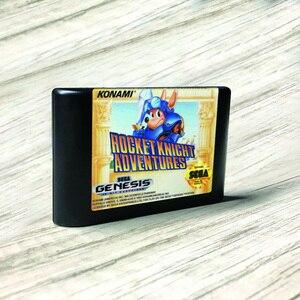 Image 1 - Tên Lửa Hiệp Sĩ Phiêu Lưu Mỹ Nhãn Flashkit MD Electroless Vàng PCB Thẻ Cho Sega Genesis Megadrive Video Máy Chơi Game