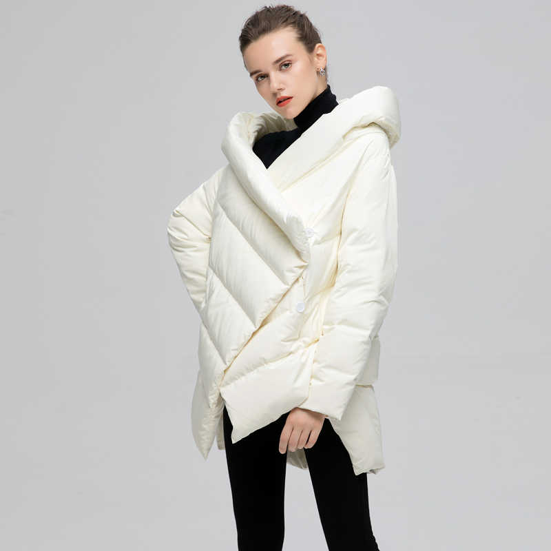 YVYVLOLO vrouwen Winter Jas Mode Mantel Winterjas Vrouwen Parka Losse Plus Size Down Winter Warme Jasje Overjas