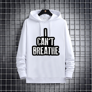 I can't breathe the human Rights graphic print hoodie Street style Women's hoodie Harajuku Human Rights couple hoodie Tops litigating rights