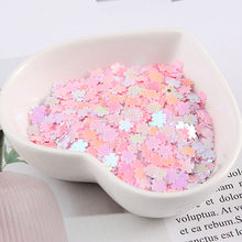 5 milímetros Lantejoulas Nail Art Glitter Manicure Doce flor de Cerejeira Sakura Jóias Paillettes de Enchimento para Fazer Do Cartão DIY Artesanato Confetti