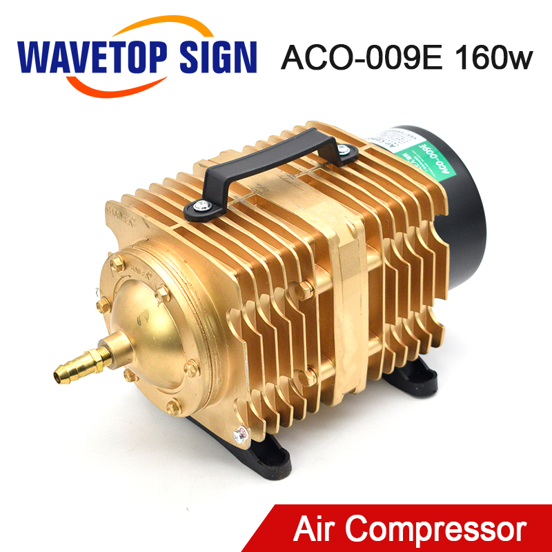 WaveTopSign 160W Air Compressor Electrical Magnetic Air Pump for CO2 Laser Engraving Cutting Machine image