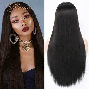 Парики из искусственных волос на кружевной основе для женщин, парики из искусственных волос, черные натуральные парики, вечерние волосы на ...