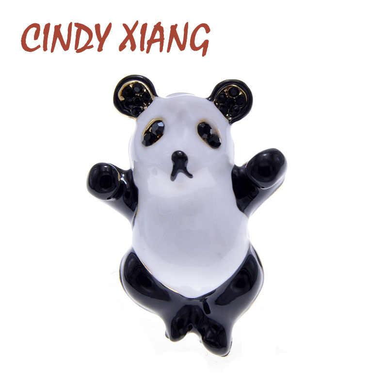 Cindy Xiang Nuovo Arrivo Carino Vivid Panda Spille per I Bambini E Le Donne Dello Smalto Animale Spilla di Design Spille 5 Colori Avaibale buon Regalo