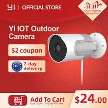 YI Cámara IP para exteriores alta definición, 1080P, tarjeta SD, cámara de vigilancia de seguridad, resistente al agua, visión nocturna, YI Cloud, app IOT