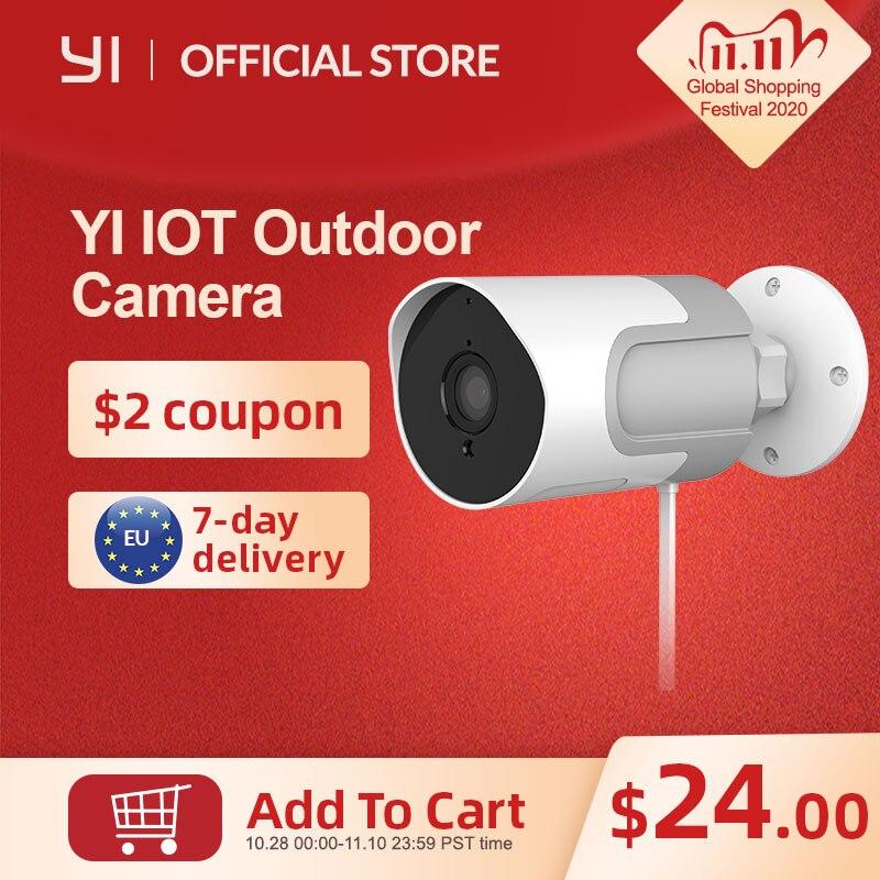 YI loT Outdoor IP Camera Full HD 1080p SD Card Security Surveillance Camera Weatherproof Night Vision YI Cloud YI IOT APP|Surveillance Cameras| - AliExpress