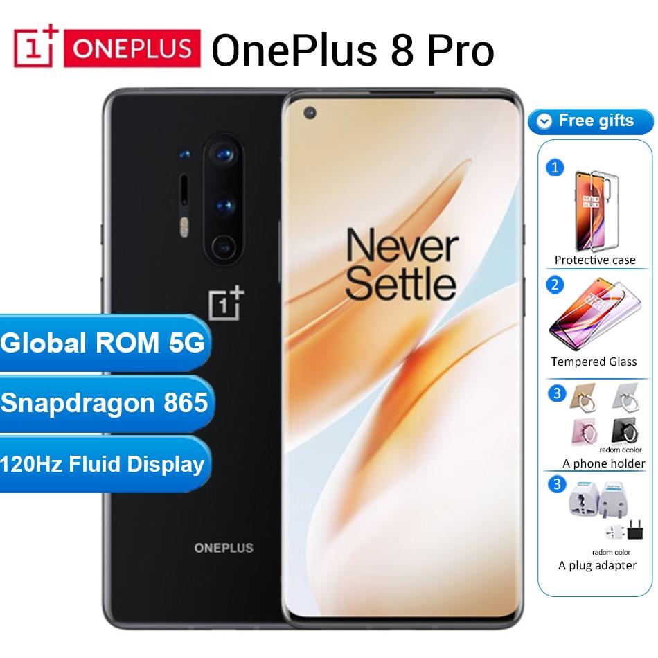 "Internationl ROM Oneplus 8 pro 5G Mobile Phone 12GB 256GB /8GB 128GB 6.78""120Hz Snapdragon 865 30W 4510mAh NFC 5G Smartphone"