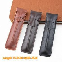 حافظة أقلام الرصاص الجلدية قلم حبر عالية الجودة/حقيبة لأقلام واحدة حامل قلم القهوة/الحقيبة
