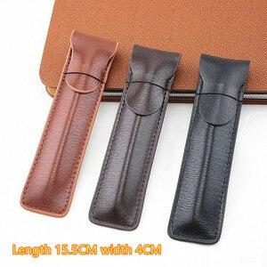 Image 1 - Da Cao cấp Đựng Bút máy Ốp Lưng/Túi cho Đĩa Đơn Bút Cà Phê Bút/Túi