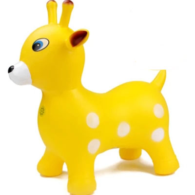 Haha Children's Inflatable Toys Haha Ball Music Thickening Jumping Deer Baby Sports Toys Trojan Horse Riding