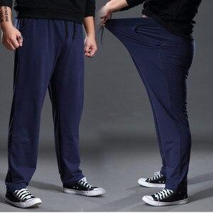 Image 5 - Fashion Large Size Sweat Pants Men Straight Casual Black Blue Grey Sport Pants Plus Size 5XL 6XL 7XL Mens Long Pants Trousers