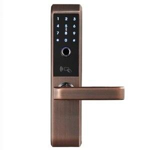 Image 3 - LACHCO 2020 טביעות אצבע ביומטרי אלקטרוני חכם דלת מנעול, קוד, כרטיס, מגע מסך דיגיטלי סיסמא נעילת מפתח עבור בית Ak18A3F