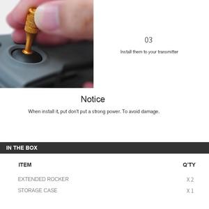 Image 3 - Аксессуары DJI mavic mini, запасные части, 2 шт., пульт дистанционного управления с ЧПУ, трость для большого пальца, защитный чехол для хранения