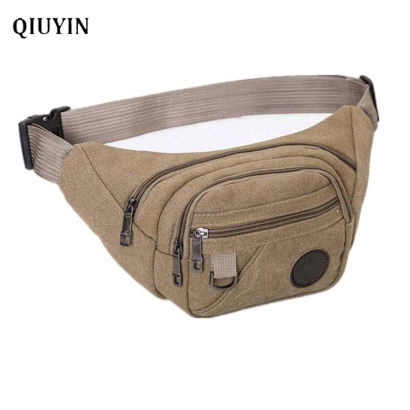 Qiuyin Korean Supreme Fanny Pack Man Belt Pouch Men Waist Bag Sports Purse Travel Money Belt Crossbody Fanny Pack Zipper Purse
