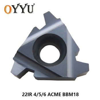 OYYU 22 IR 4 5 6 ACME BBM18 Indexable Tungsten Carbide Threading Lathe Inserts 22IR 4ACME 5ACME 6ACME thread turning insert