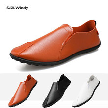 Sapatos casuais masculinos de verão não-deslizamento de sola macia sapatos de condução confortáveis mocassins sapatos de couro masculino de negócios