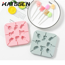 Homemade Candy Mould Baking Tools Silicone Lollipop Mold Lion/Pig/Star/Heart Patterns for in KATSSCN 343