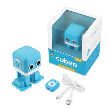 WL TOYS Cubee RC Robot Toy Smart Bluetooth Speaker Intelligent Musical Dancing Machine LED Face Desk For Kids Gift