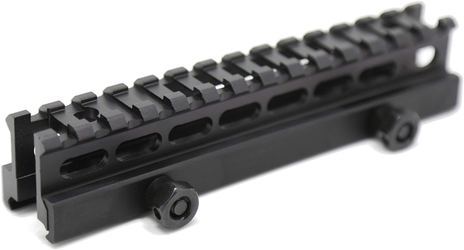 Hunting Tactical Gun Accessories Flat Top Riser Mounts 1 Inch High 14-slot Light Weight Picatinny Rail Riser Mount For 20mm Rail