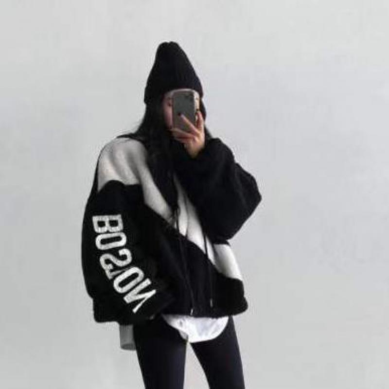 Genayoa Корейская куртка на подкладке из овечьей шерсти уличная