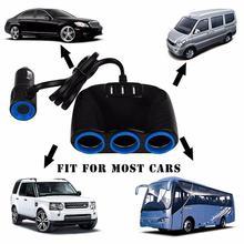 3 USB порта 3.1A синий светодиод автомобильный прикуриватель разветвитель концентратор адаптер питания 12 V-24 V для IPad смартфона
