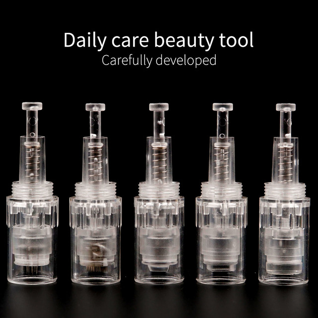 10PCS Electric Derma Pen Needles 9 12 36 42 pin MYM Cartridge For Auto Derma Pen Dr. Pen Needle screw Tip 5