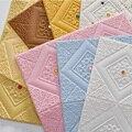 3D Schaum Wand Aufkleber Dach Panels Selbst-adhesive Decke Tapete Selbst-laden Kid Zimmer Büro Dekoration Wohnkultur weichen Paket