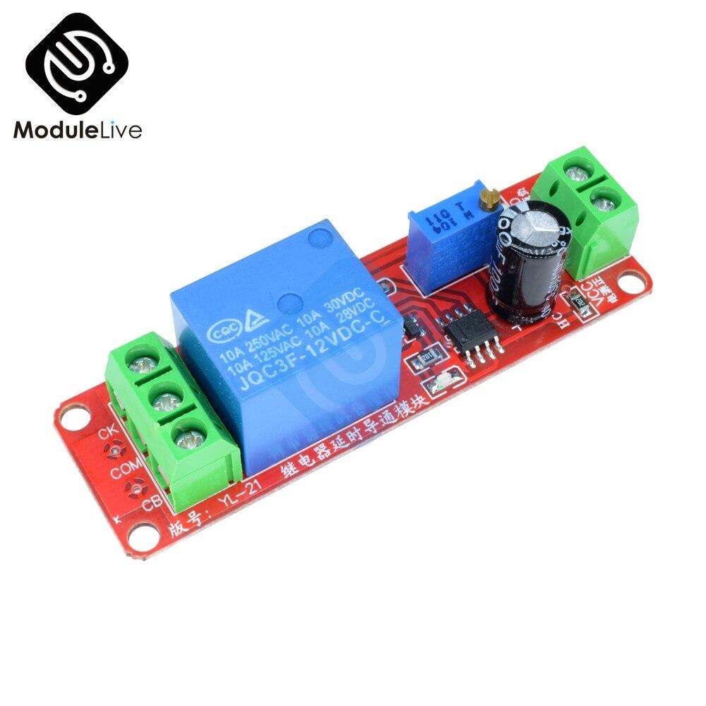 DC 5V 12V NE555 0~25s Adjustable Delay Relay Timer Switch On//Off Module for Car