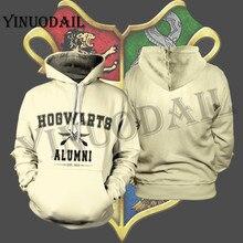 YINUODAIL Mens Sporting Hoodies Wizardry 3D Hoody Sweatshirt Hogwarts Alumni Streetwear Cosplay Costume