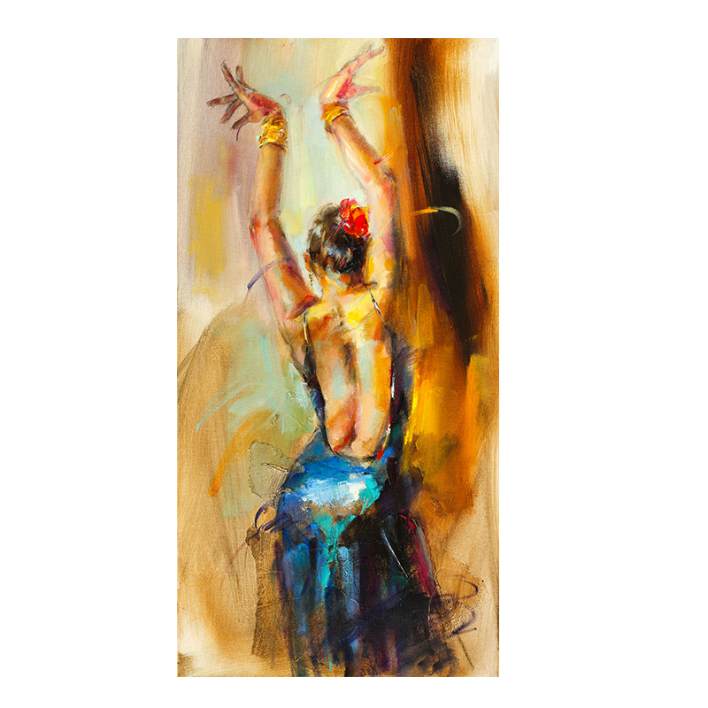 Dancing Girl Abstract Oil Painting