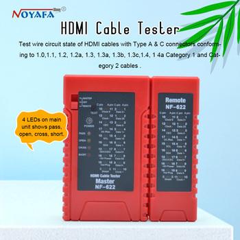 NOYAFA NF-622 HDMI przewody do testowania er sprawdź zaburzenia krótki otwarty i krzyżowy stan testera kabli HDMI i przewody do testowania HD NF_622 tanie i dobre opinie Shenzhen China HDMI- A C HDMI cable 9V Alkaline battery (not included) CE ROHS REACH 1Year HDMI Drutu Tester