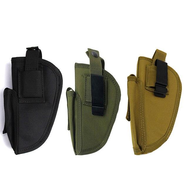 Right Left Hand Gun Holster Concealed Airsoft Pistol Holster for Glock Colt1911 Beretta M9 P226 Pistol Gun Case Magazine Bag 5
