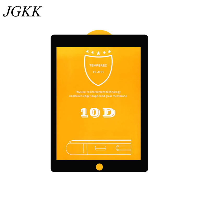 JGKK Full Coverage 10D Tempered Glass for IPad 1 2 3 4 9.7 Tablet Screen Protector for Apple IPad 5 6 Air 1 2 HD Protective Film