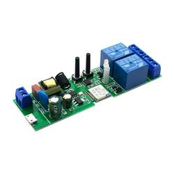 2CH Wi-Fi DIY умный Беспроводной дистанционный переключатель Domotica светильник Модуль контроллера работать с Alexa Google Home eWeLink