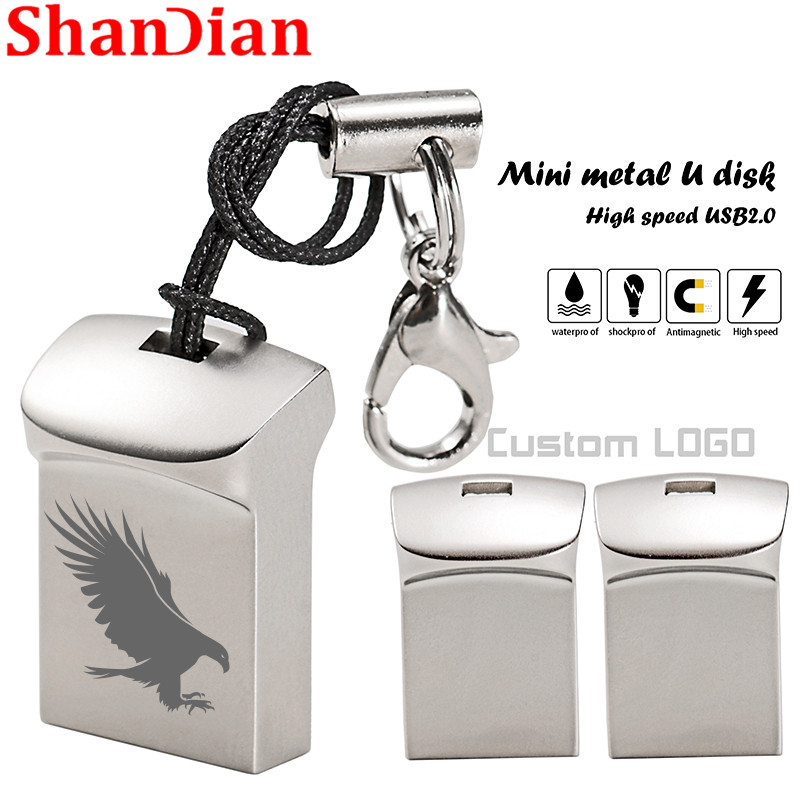 Mini USB 2.0 32GB 64GB Real Capacity USB Flash Drive 128GB Pendrive 16GB 8GB Pen Drive U Disk Flash Memory Stick Free Shipping