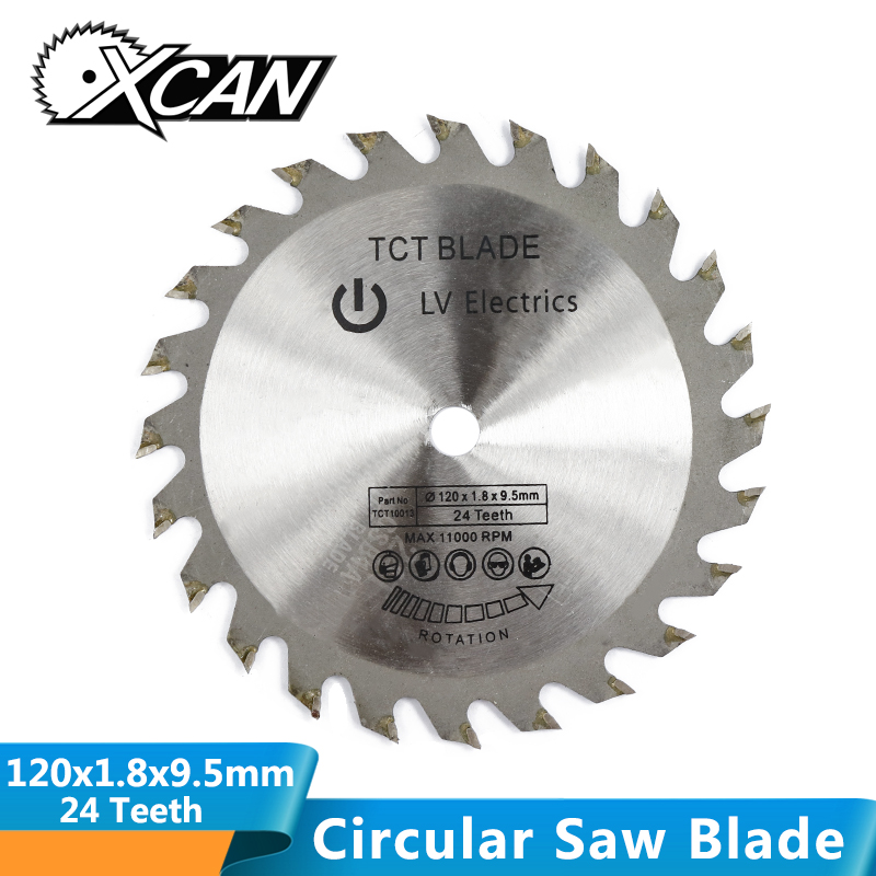 XCAN 1pc Diameter 120mm 24T TCT Circular Saw Blade Carbide Tipped Woodworking Saw Blade For Wood Cutting