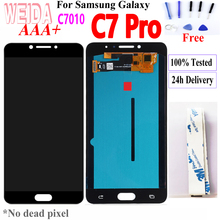 WEIDA 5.7 For SAMSUNG Galaxy C7 Pro C7010 LCD Display Touch Digitizer Assembly For Samsung Galaxy C7 PRO LCD