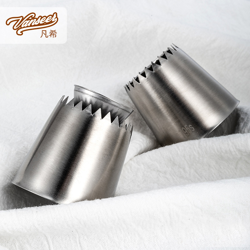 Japanese Style Stretch Pastry Nozzle 304 Stainless Steel Mounting-pattern Device Baking Tool Small Romeo Cake Nai You Zui