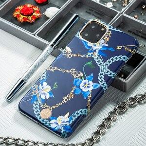 Image 5 - Оригинальный жесткий чехол Kingxbar для телефона с цепочкой и кристаллами Элементы для Apple iPhone 11/ Pro/ Max роскошный чехол накладка с полной защитой