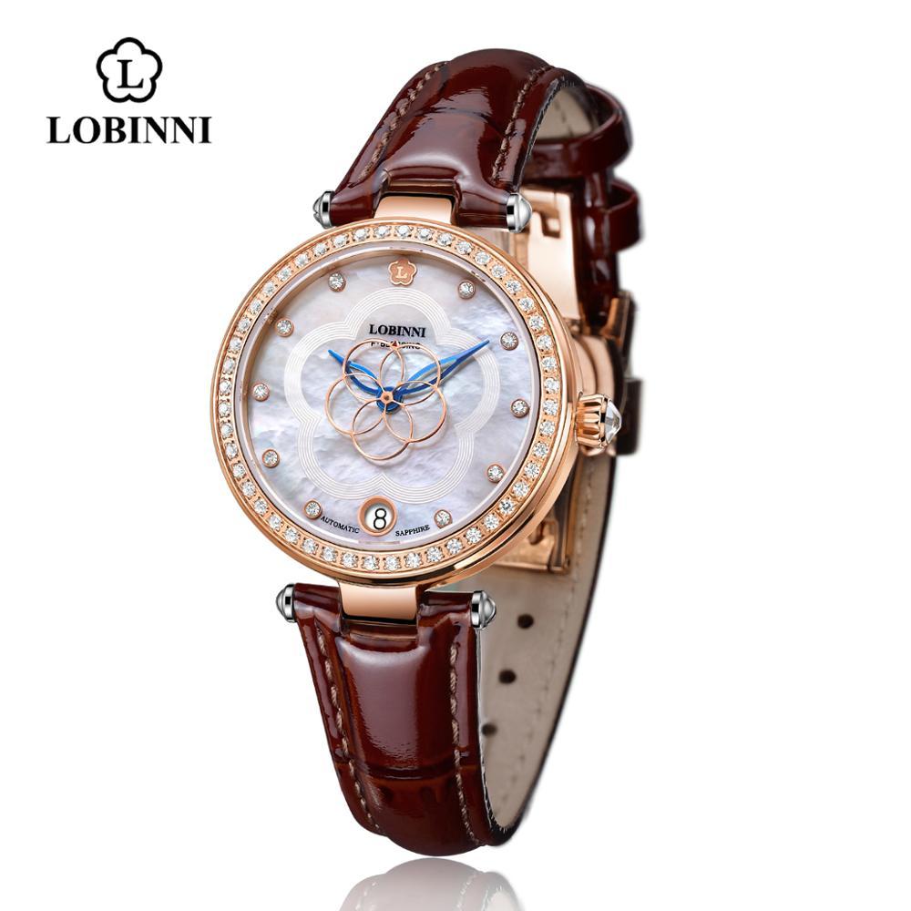 LOBINNI Switzerland Luxury Watch Mechanical Watch For Women Quartz Brand Watch Waterproof Lady Watches Mechanical Watches 2008