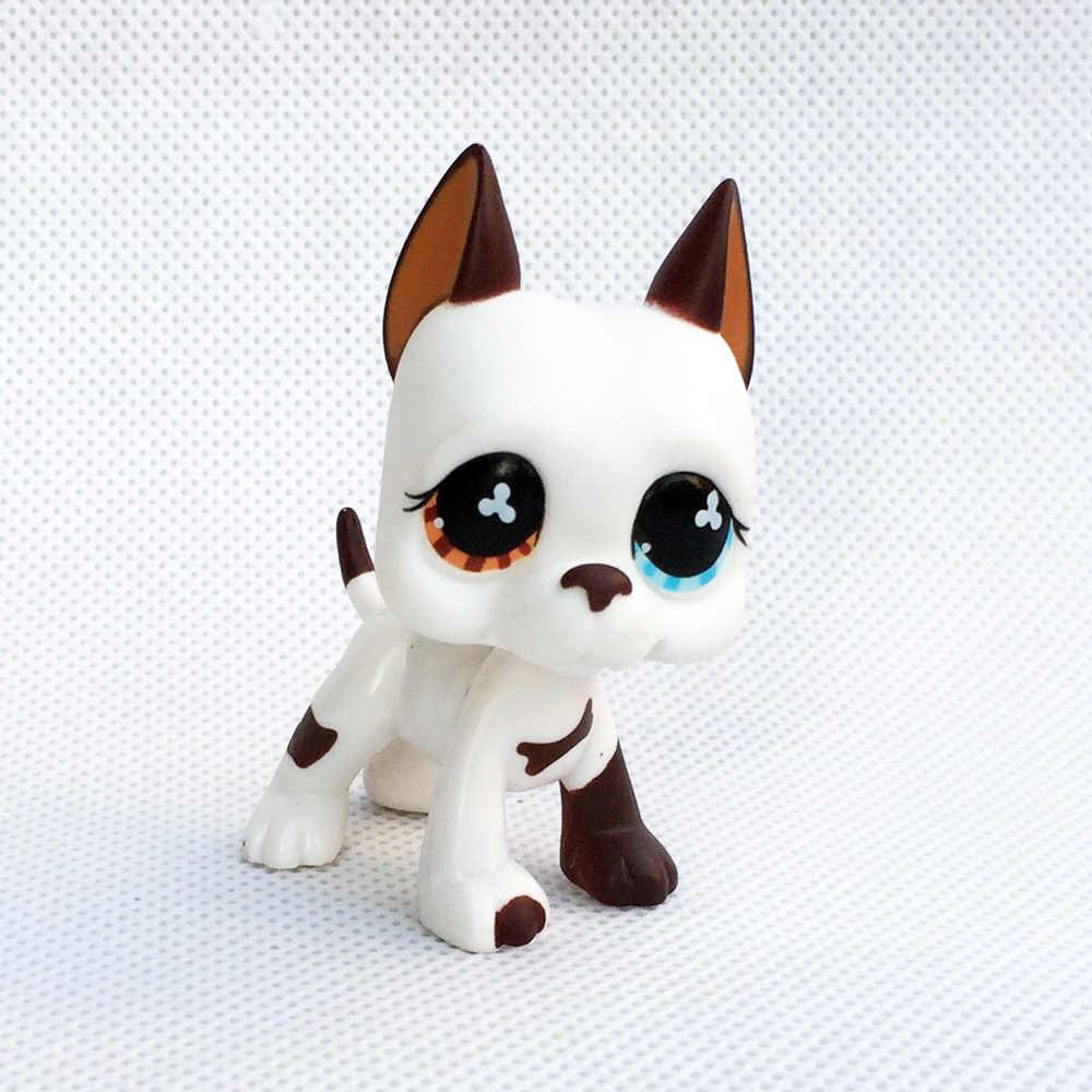 Lps gato raro animal de estimação loja brinquedo stands cão dachshund collie cocker spaniel great dane husky antigo original figura coleção