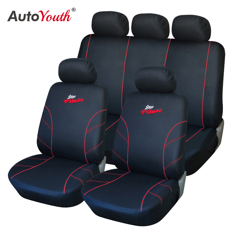 AUTOYOUTH Seat Covers Universal Car Seat Cover Interior Accessories Vehicle Seat Covers <font><b>Red</b></font> Car Styling For <font><b>peugeot</b></font> <font><b>307</b></font> golf 4 image