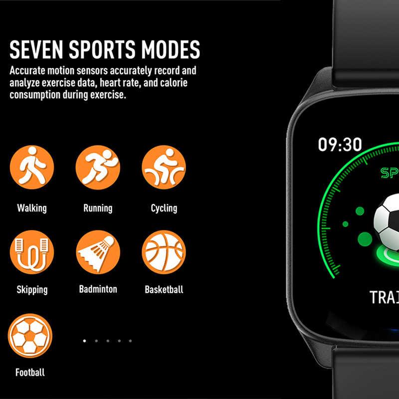 Yeni kadın akıllı saat OLED renkli ekran IP67 su geçirmez spor Iphone için Smartwatch kalp hızı monitörü kan basıncı fonksiyonları