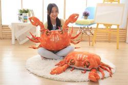 [Забавные] 90 см очень Симпатичные Моделирование Краб Мягкие плюшевые игрушки PP хлопок мягкие морские животные Краб кукла модель диван-Подуш...