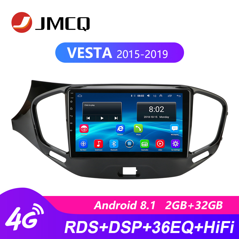2Din Android 8.1 4G 2GB+32GB Car Multimedia Video Player For Lada VESTA 2015-2019 Audio System Navigation GPS Head Unit 2 Din image