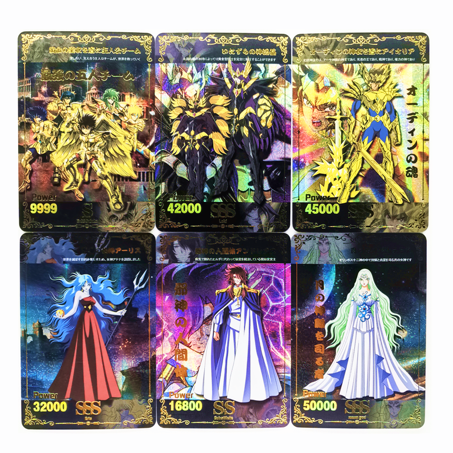 39pcs/set Saint Seiya Full Role Expansion Pack Toys Hobbies Hobby Collectibles Game Collection Anime Cards