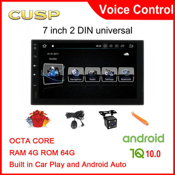 CUSP 2 din Android Car Radio Multimedia Player 7 HD Autoradio Bluetooth Universal For Volkswagen Nissan Hyundai Kia Toyota Ford image