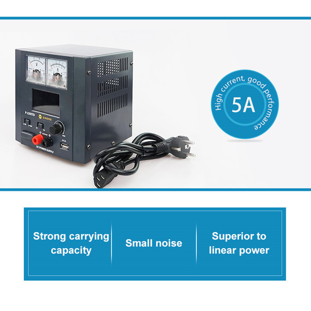 Sunshine P 1505TD 5A DC Regulated Power charger for Mobile Phone Repair Intelligent Power charging Source