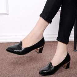 Новинка; стильная модная женская обувь в Корейском стиле с круглым каблуком «рюмочка» на не сужающемся книзу массивном каблуке с