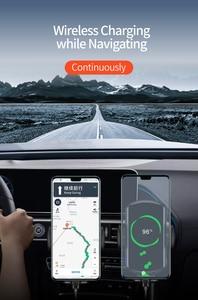 Image 3 - קול שידור אלחוטי רכב טלפון מטען 15W תשלום מהיר רכב מחזיק עבור iphone 11 פרו 11XS מקסימום עבור Huawei mate30pro P30 פרו