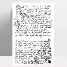 Zhuoang цветы и птицы прозрачный штамп/штамп diy скрапбук/альбом